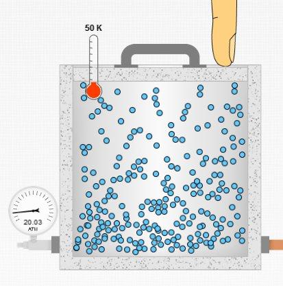 Gaz basıncı sabit sıcaklık ve hacim durumu
