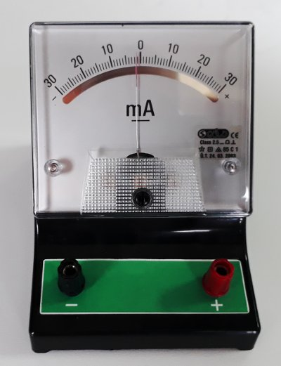 Elektrik akımı nasıl ölçülür: analog miliampermetre