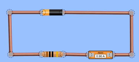 Ampermetre dirence seri bağlı