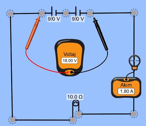 Üreteçlerin seri bağlanması doğru bağlanmış sembolik (devre simgeleri) görünümü