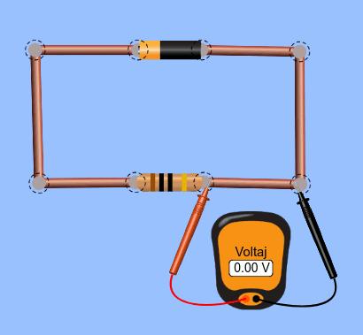 Voltmetre dirence seri bağlı