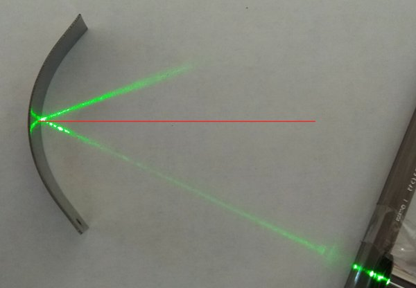 Çukur aynada özel ışın: tepe noktasına gelen ışın asal eksene paralel yansıyor