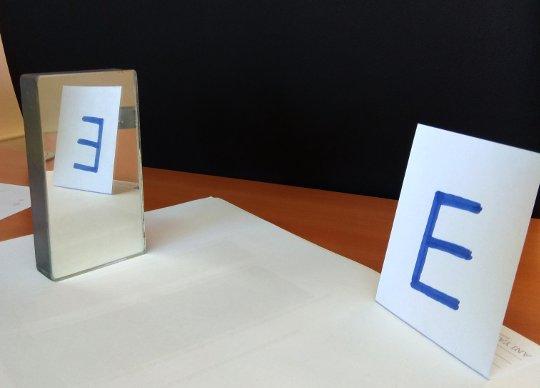 Düz aynada görüntünün özellikleri: simetri