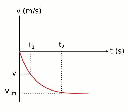 Limit hız hız - zaman grafiği