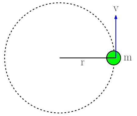 Düzgün çembersel hareket için kinetik enerji